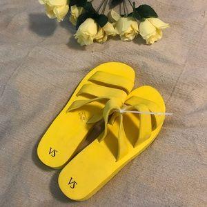 Victoria's Secret yellow foam sandals